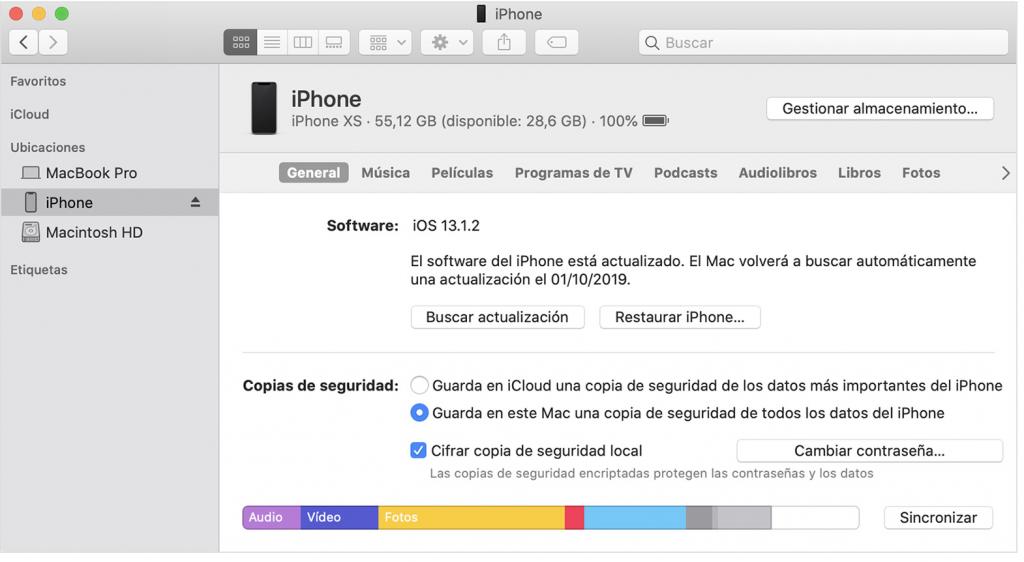 Find iPhone con iTunes